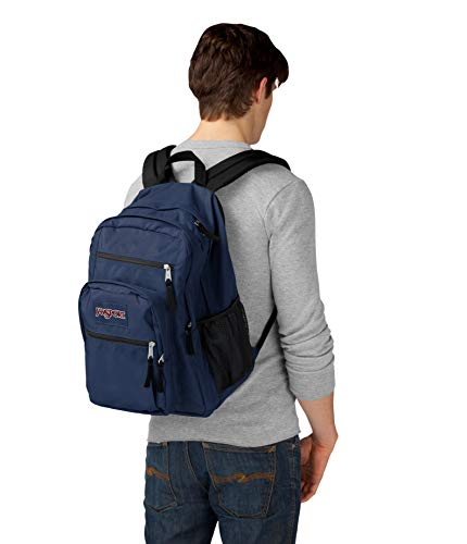 JanSport Big Student Backpack (Navy) (Navy Blue) Image 3