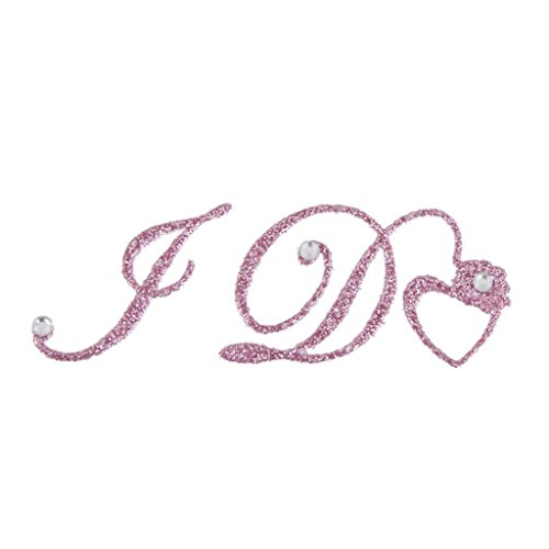 I Do Autocollant Acrylique Décoration de Chaussure de Mariée - Rose