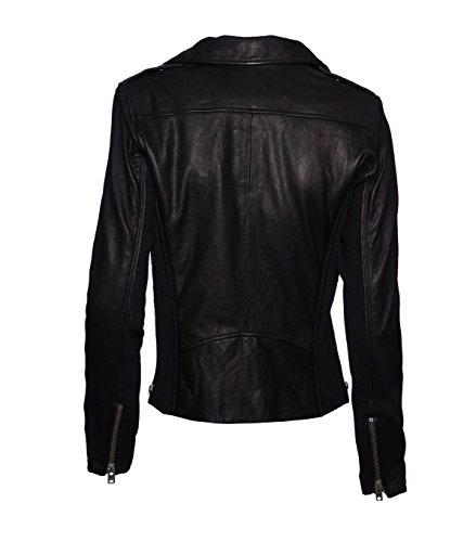 IRO Damen Lederjacke Gipsy Bikerjacke Jacke Leder – Leder – schwarz black 42 - 2
