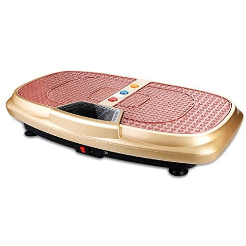 Vibrationsplatte 3D 150Kg,mit Bluetooth Oszillationstechnologie für Zu Hause Magnet Fußreflexzonenmassage Funktion Color Touch Display Inkl Trainingsbänder Fernbedienung,Gold