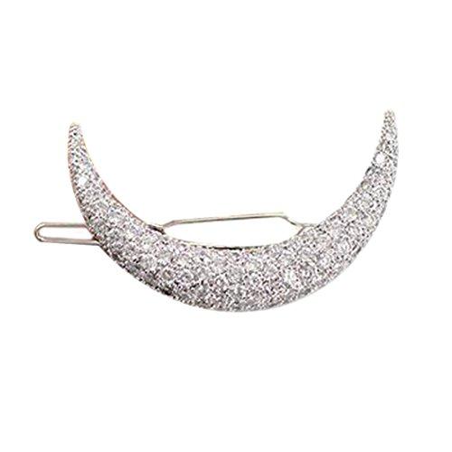 Horquilla de pelo en Compatible Conma de media luna con diamantes de imitación, elegante