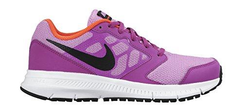 Nike Downshifter 6 (GS/PS) Scarpe Sportive, Ragazza Multicolore (Rosa / Negro / Morado / Blanco (Fuchsia Glow / Blck-Vvd Prpl-Wht))