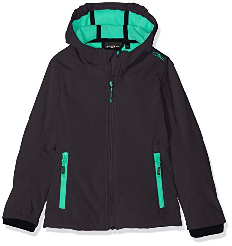 CMP Girls' Softshell 3A29385N Jacket, Antracite/Aquamint, 176 (EU)