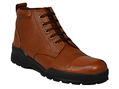Men's Tsf-Police Tan Leather Lace Up Boot -45