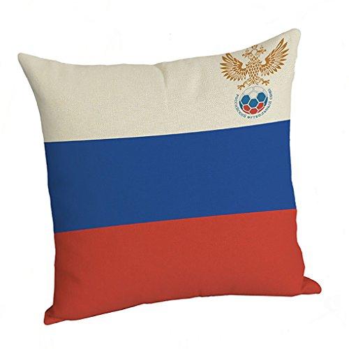 Nzl cuscino 45 x 45cm cotone e lino materiale per l'onore nazionale partita di calcio coppa del mondo 2018