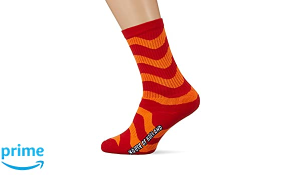 House Of Holland Womens Wavy Branded Socks, Multicolour (Red/Orange Red/Orange), One Size (Manufacturer Size: 3-8) House Of Holland