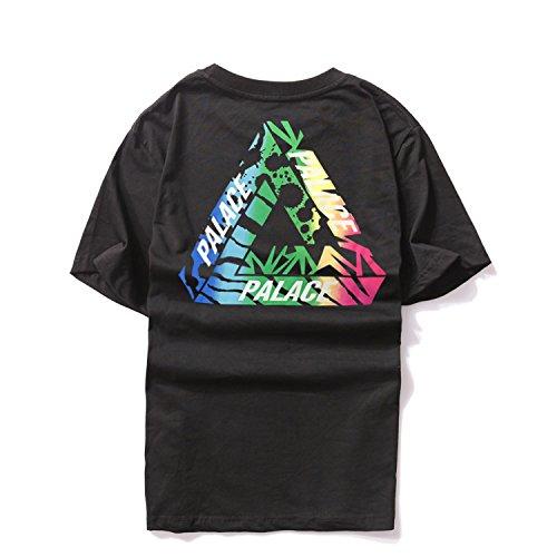 BOMOVO Herren PALACE Cotton T-Shirt In Vielen Farben Schwarz