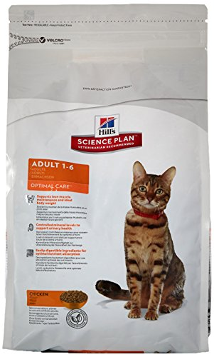 Science Plan Gatto Adult Optimal Care, Mangime secco per gatto, Gusto pollo, kg. 2