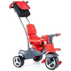 MOLTO- Triciclo Urban Trike Easy Control, Color Rojo, Miscelanea (17200)
