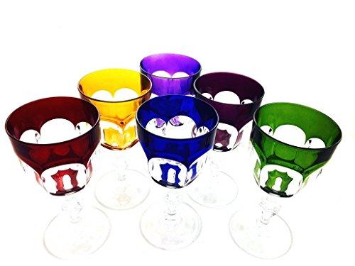 Weingläser handgemacht, Service 6 Gläser (17 cl), Roemer Glaskristall, Unterschrieben und...