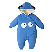 Kobay Baby Unisex Coat Infant Toddler Baby Boys Girls Cartoon Dinosaur Hooded Zipper Tops Clothes Jacket Outerwear for 0-2Years