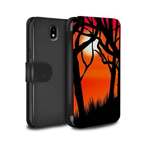 �lle/Case/Tasche/Cover für Samsung Galaxy J7 2017/J730 / Gruseligen Wald Muster/Halloween Szene Kollektion ()