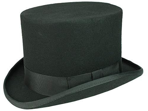 e3fc01aa Christys' Fashion Top Hat Zylinder aus Wollfilz - Schwarz (Black) - 58-
