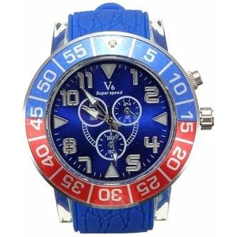 Bheema V6Big Band di silicone quadrante super Velocità quarzo analogico orologio sportivo