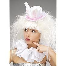Peluca y sombrero blancos del conejo del país de las maravillas