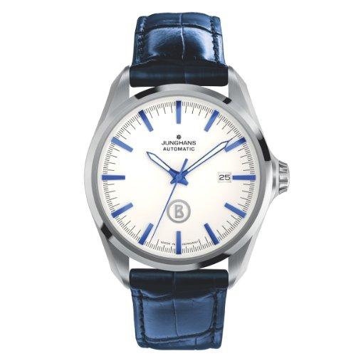 Junghans Herren-Armbanduhr XL Bogner Willy Automatic Analog Automatik Leder 027/4270.00