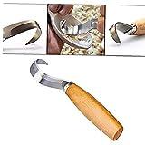 Angoter Mano cesello di Legno Carving Strumenti Cucchiaio Carving Strumenti Xilografia Woodcarving Cutter Chip Lame Lavorazione Legno