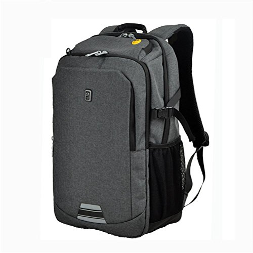 Laptop zaino affari Borsa a tracolla studente Borsa da scuola viaggio Grande capacità zaino light grey