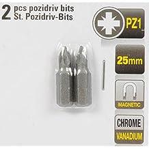 Schlitz Bit Bits 4,5 KINZO Bit SET magnetisch 2 Stück Bit Chrome Vanadium 25mm
