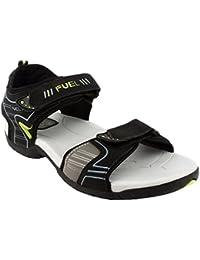 e6a9e01063ad FUEL Men s Boy s Comfortable Velcro Closure Solid Casual Floaters   Sandals