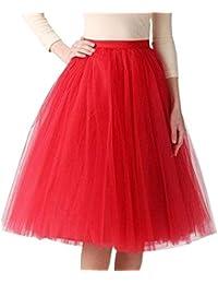 80ffdaf1f6 FAMILIZO Faldas Cortas Mujer Verano Faldas Tubo De Moda Faldas Tul Mujer  Faldas Altas De Cintura Faldas Acampanadas De Mujer Mini…