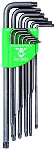 TORX® 70464 Winkel Schraubendreher Set 13tlg. T5-T50 | Made in Germany | Torxschlüsselsatz | Schraubenschlüssel | T5 | T6 | T7 | T8 | T9 | T10 | T15 | T20 | T25 | T27 | T30 | T40 | T50 | TX | für Torx Schrauben