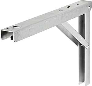 Querre pliante pour table murale rabattable 400x270 mm for Equerre pour table rabattable