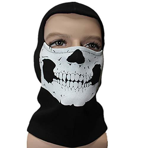 EIN Fahrrad Maske Skelett des Windes durchlässig für die Luft Radhelm Sportmotorrad Kapuze voller Radsport Maske thermischer Schal Magie Schal Vollgesichtsschutz