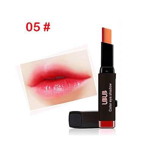 MRURIC Multidimensionale Farbe für verführerische Lippen Lippenbleistift, Zweifarbiger Lippenstift, wasserdichtes langlebiges Lippenbleistift, Lip Gloss Schönheits Kosmetik Makeup,Make-upwerkzeug (E)