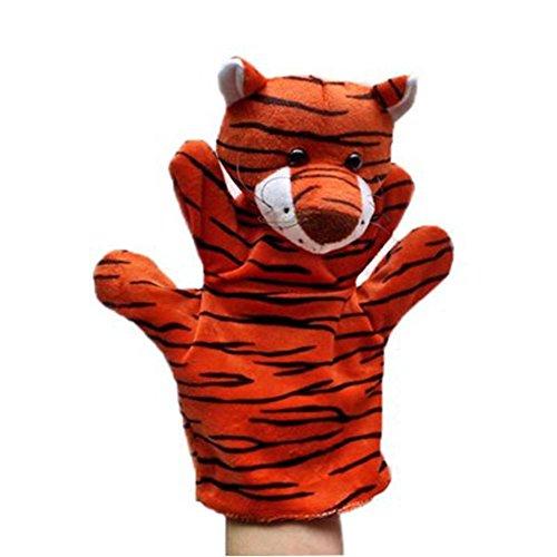 Lindo peluche marionetas de mano animales marionetas de mano, Tigre