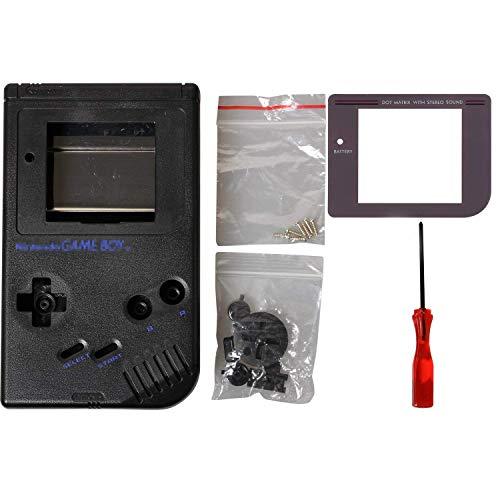 GB Abdeckung, eJiasu Game Boy Cover Ersatz Reparatur Gehäuse Shell Protector Teile für GB Gameboy Gehäuse Fall (1 Satz-Schwarz)