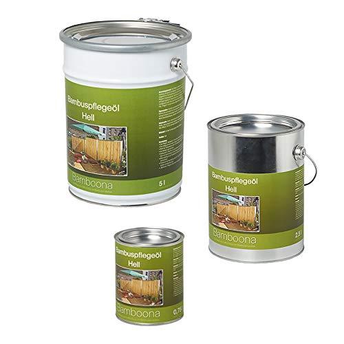 Bambus-Pflegeöl hell - Hochwertiges Ölharz für Zäune, Rohre & Terrassendielen 0,75 Liter