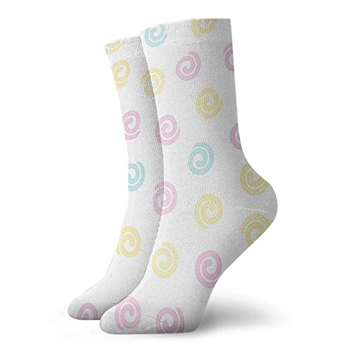 REordernow Kurze Socken für Männer, Frauen Colored Swirl Pattern Adult Short Socks Cotton Classic Socks for Mens Womens Yoga Hiking Cycling Running Soccer Sports -