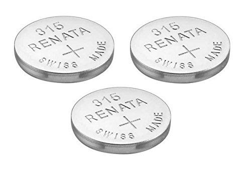 3 x Renata 315 Uhrenbatterie, Swiss Made, Silberoxid, 1,5 V (SR716SW)