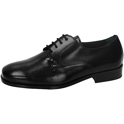 ZAPATOP 2169 Zapato SCHNÜTZE Leder MÄNNER Schuhe, Schwarz - Schwarz - Größe: 40 EU