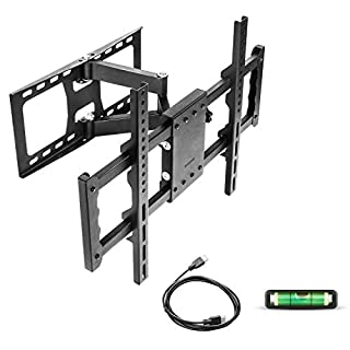 Sunyear 32 Inch to 55 Inch TV Wall Mount Bracket LED LCD Swivelling/Tilting for VESA up to 500 x 400 mm, with HDMI Cable+ Bubble Level