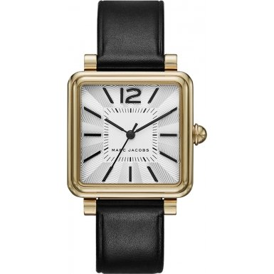 Marc Jacobs Damen-Armbanduhr Analog Quarz Leder MJ1437 (Marc Jacobs Black Watch)