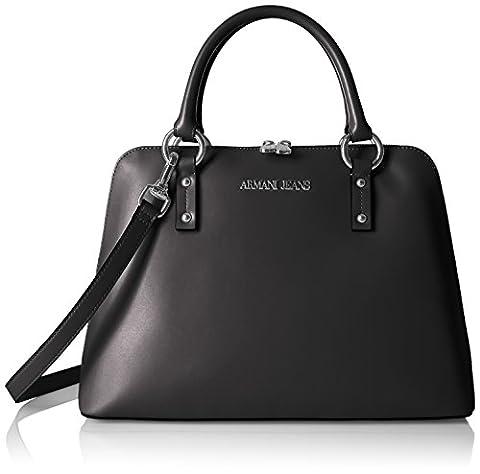 ARMANI JEANS Womens Borsa Bauletto Top Handle Handbag, Black, One Size