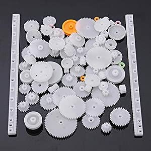 YUNIQUE UK ® 75 Pieces Gear spare parts for robotics , drones , Car RC (kit 75pieces) by YUNIQUE