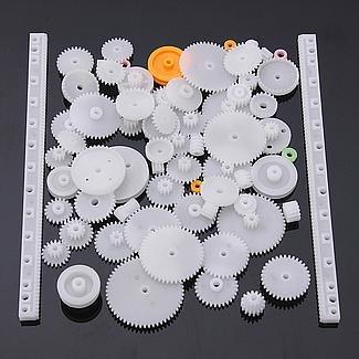 YUNIQUE UK ® 75 Pieces Gear spare parts for robotics , drones , Car RC (kit 75pieces) by YUNIQUE