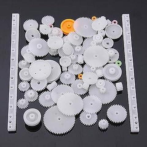 YUNIQUE ESPAGNE® 75 Piezas paquete Different Gear Engranajes para la robótica (kit de engranajes 75