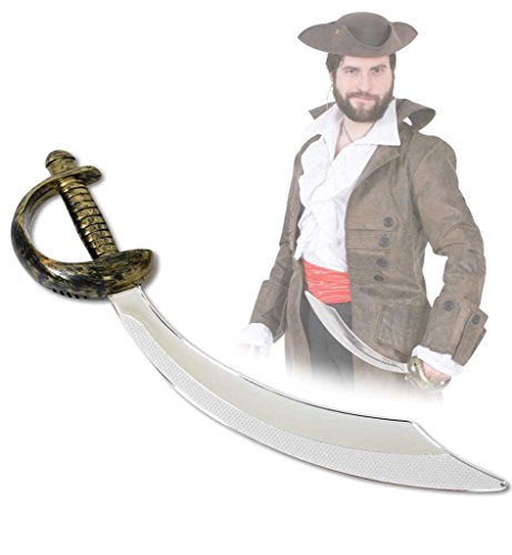Pirate Kostüm Butt - Piraten-Säbel, ca. 47 cm, Halloween, Karneval, Mottoparty, Accessoire