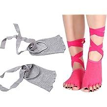 HapiLeap - Zapatillas para deportes de interior de algodón para mujer Talla única