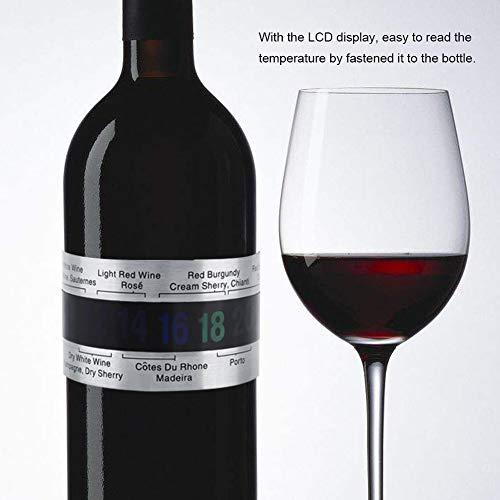Kreatives Edelstahl-Thermometer, digital, LCD-Display, Rotwein, Temperatursensor, für Bierbrauen, Wein und Champagner