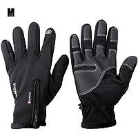 Guantes de invierno cálidos, con pantalla táctil antideslizante a prueba de viento y calor cálido guantes de conducción para hombre y mujer