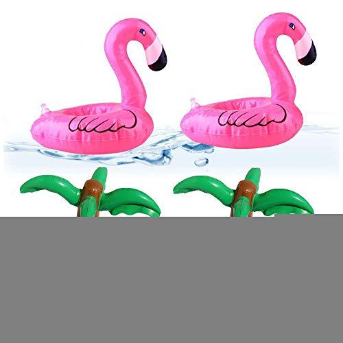 Omenluck - set di 4 sottobicchieri gonfiabili per feste in piscina