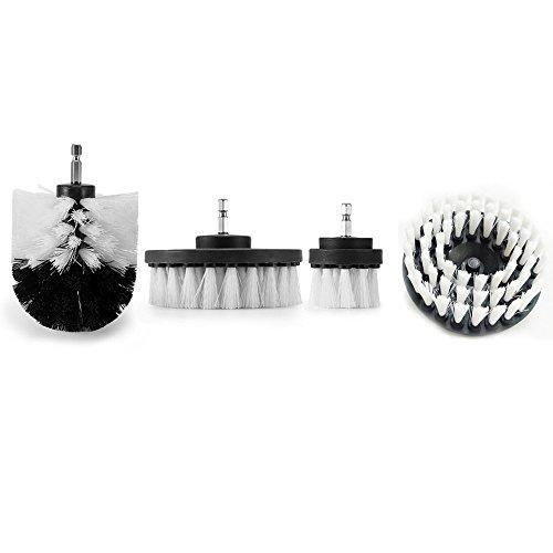 Sulifor Elektrischer Bohrkopfsatz 4, Mörtel Power Scrubber Reinigungsbürste Badreiniger Kombinationswerkzeug