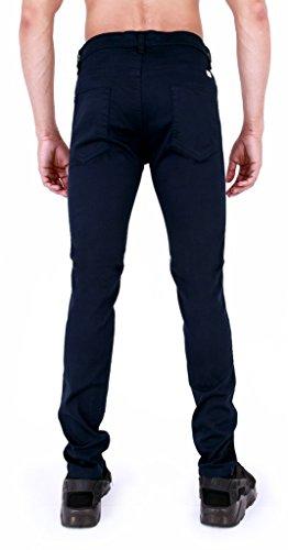 Super Skinny pour homme en sergé Chino élastique Jeans Bleu Marine