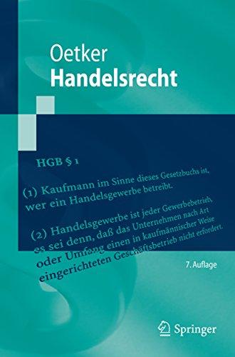 Handelsrecht: (Springer-Lehrbuch)