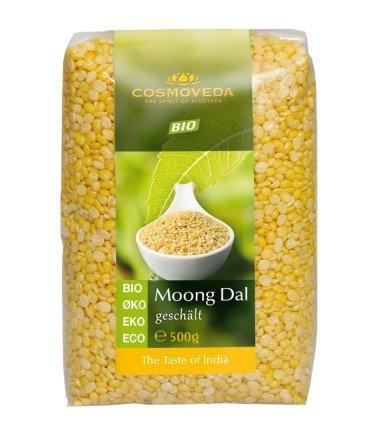 Suchen : Cosmoveda Bio Moong Dal, Mungbohnen geschält , 500 g
